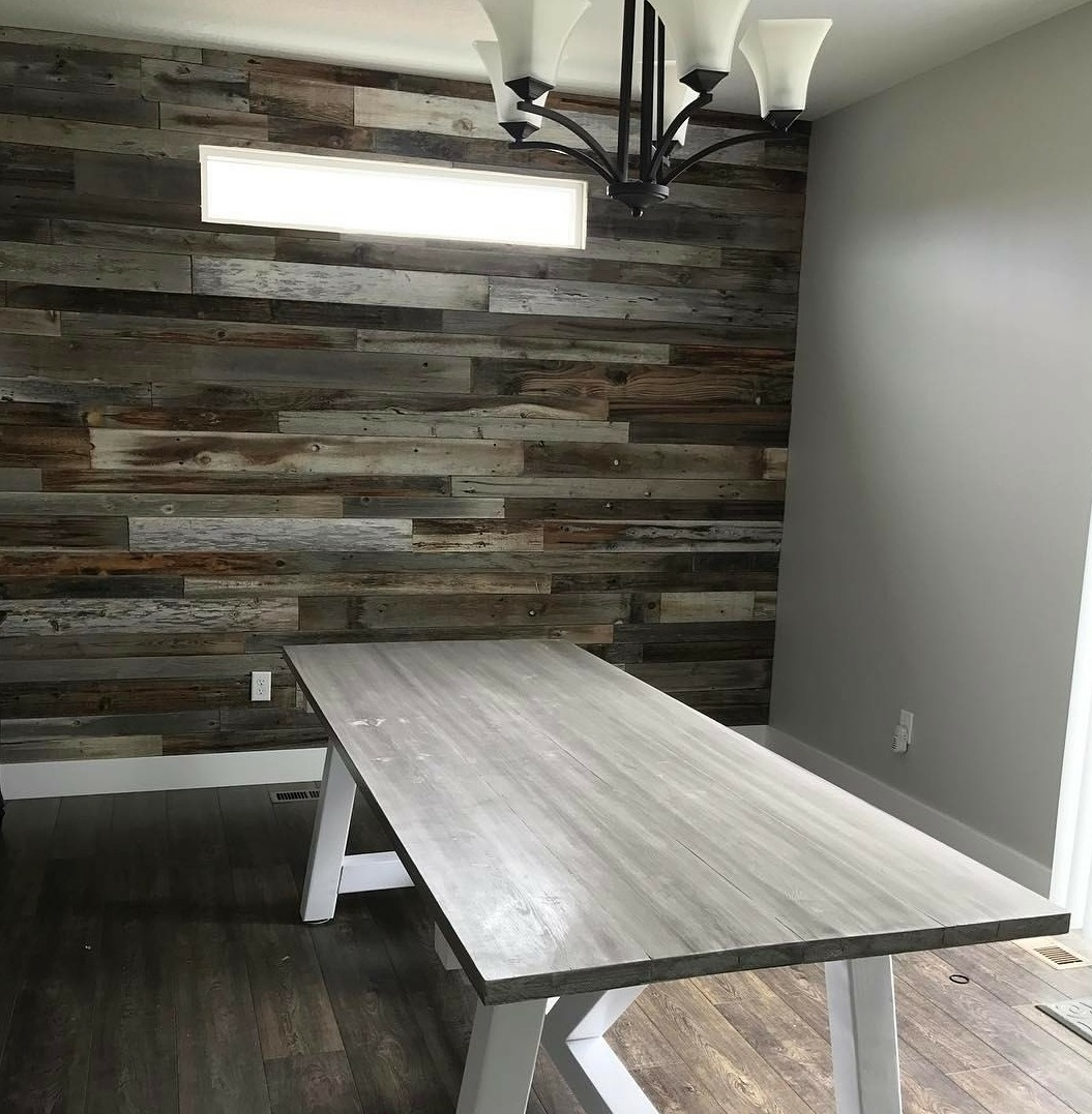 Wood Accent Wall Patterns: How To Install A Reclaimed Barn Wood Accent Wall
