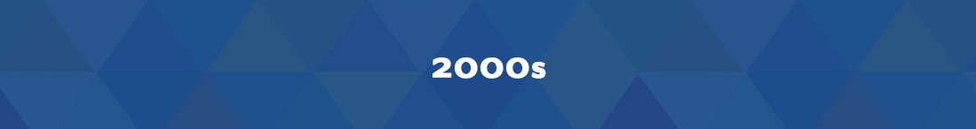 blue banner that says 2000s