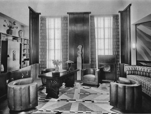 Art Deco living room in the 1920s