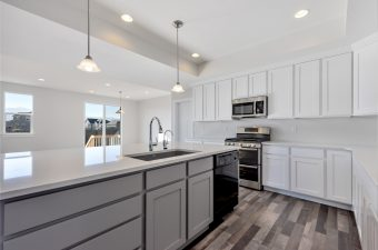 Kitchen in the Lindsay floor plan built by McArthur Homes